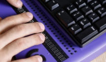 [Image of computer with braille] Click the button below for our accessibility statement.