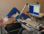 [Image of a patient undergoing a nerve conduction study]